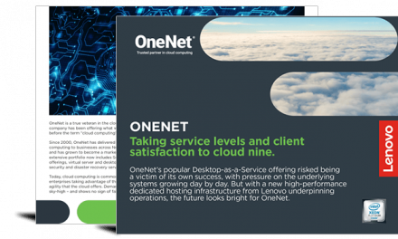 OneNet – Leaning on Lenovo to improve desktop performance