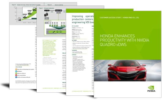 Honda enhances productivity with NVIDIA Quadro vDWS