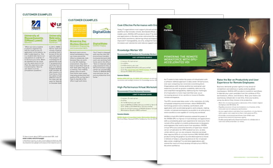 Powering the remote workforce with GPU-accelerated VDI