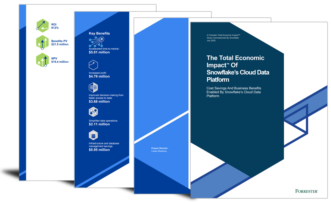 ROI of 612%, US$21m benefits for customers of this cloud data platform image