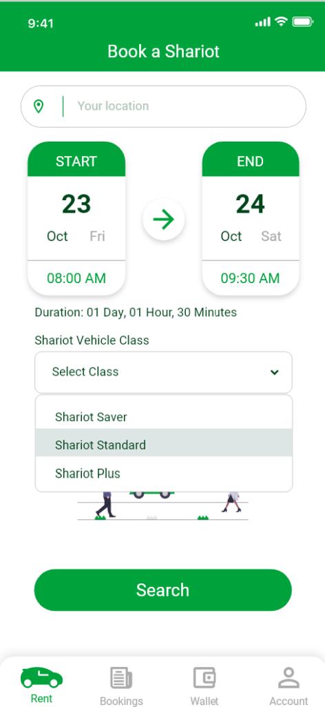 shariot app in singapore
