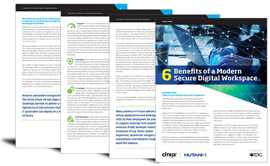 6 benefits of a modern secure digital workspace