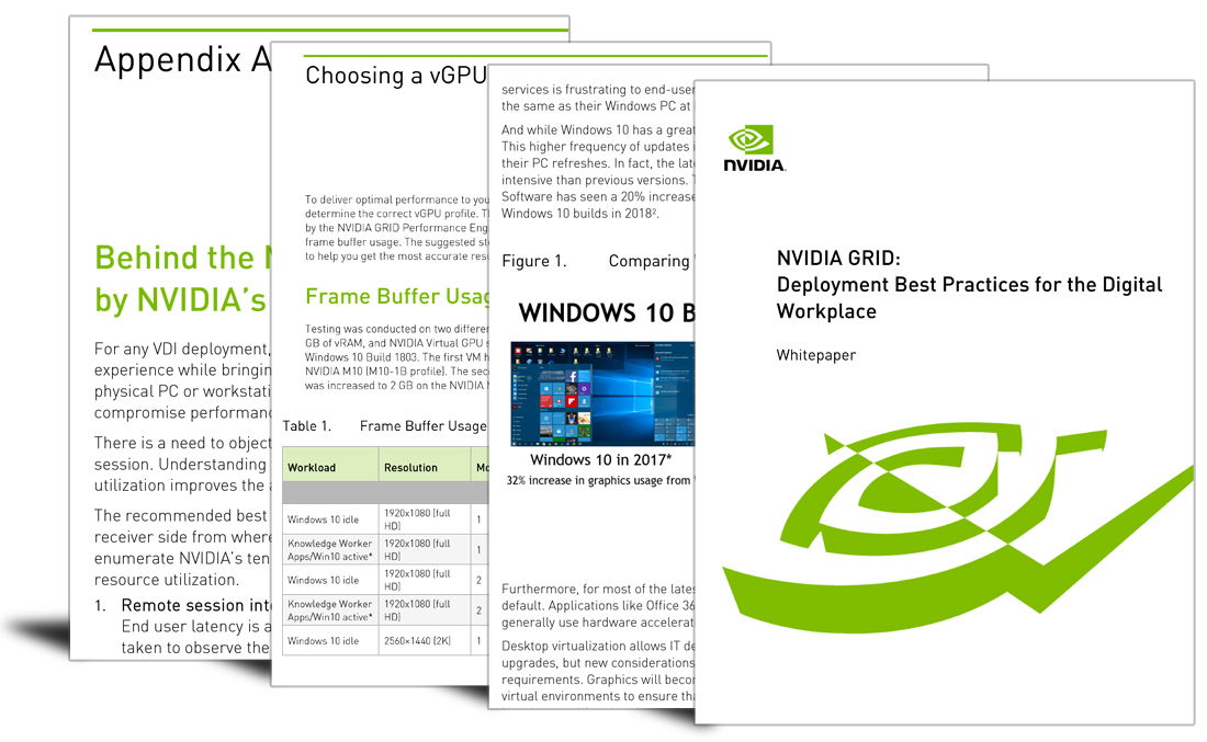 NVIDIA GRID: Deployment best practices for the digital workplace