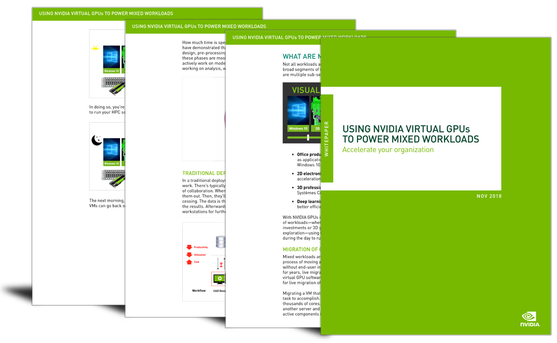 Using NVIDIA virtual GPUs to power mixed workloads