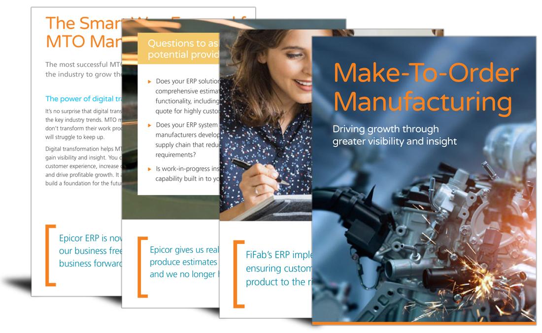 Make-to-order manufacturing