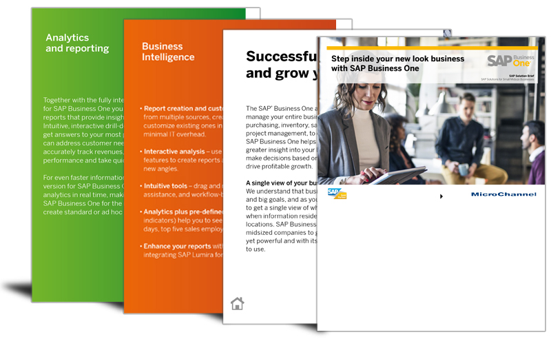 Gain greater insight into your business with SAP Business One