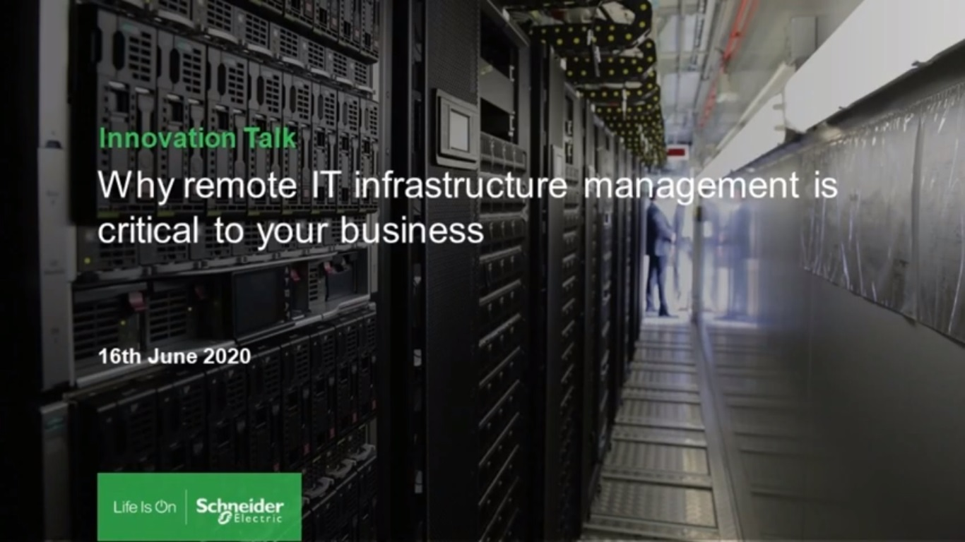 Innovation Talk: Why Remote IT Infrastructure Management is Critical to Your Business